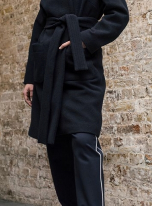 Young British Designers: AXIS Pant in Navy/Ecru by Folk