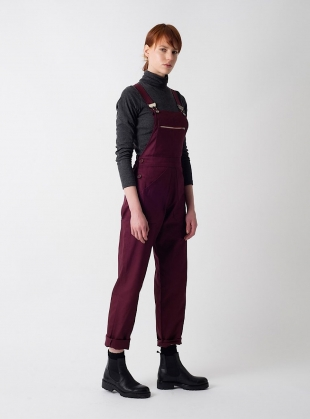 Plum Cotton Drill DUNGAREES  by Kate Sheridan