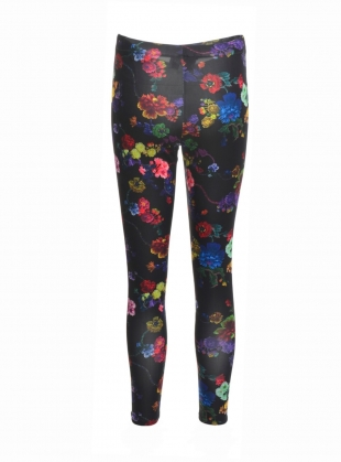 Young British Designers: MARGATE LEGGINGS in Gothic Floral - Last pair by Klements