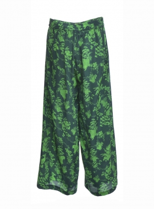 Young British Designers: PLUTO PANTS in Garden Puppets (Forest) by Klements