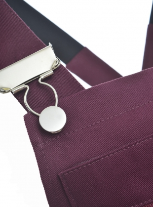 Young British Designers: Plum Cotton Drill DUNGAREES  by Kate Sheridan