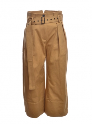 RACHEL Trouser in Camel Cotton by Eudon Choi