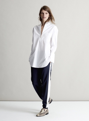 ESTHER Jogger in Navy Stretch Velvet by SYKES