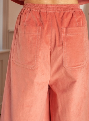 Young British Designers: GABRIEL Trouser in Dusty Pink Velvet - Sold out by LF Markey