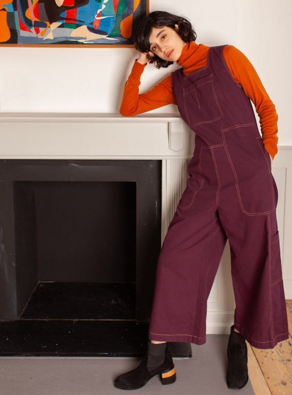 Young British Designers: CORIN Boilersuit in Burgundy by LF Markey