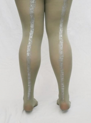 Sage Hand-Printed Bookstack Tights by hose.
