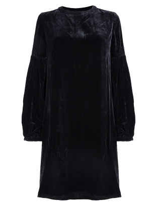 Young British Designers: NIGHT SKY Dress in Black Velvet - Last one (14) by Kelly Love