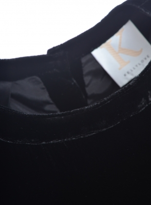 Young British Designers: NIGHT SKY Dress in Black Velvet  by Kelly Love