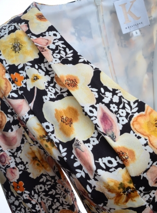 Young British Designers: FIELD OF FLOWERS Dress in Silk Satin - last one by Kelly Love