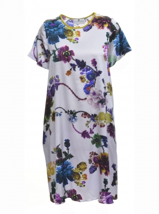 FREIDA DRESS in Gothic Floral (Iced Lilac) by Klements