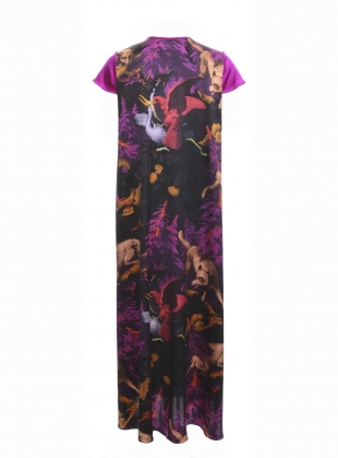 Young British Designers: LONG FREIDA DRESS in BIALOWIEZA PRINT by Klements
