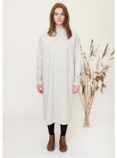 PARKER Organic Cotton Dress in Light Grey - last one