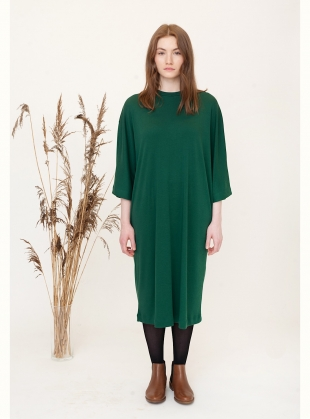 MARGAUX Midi Dress in Evergreen by Beaumont Organic