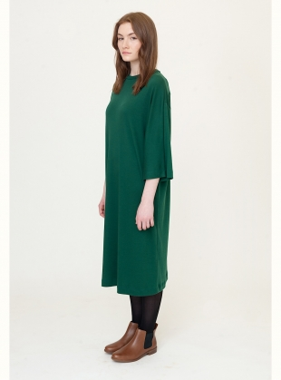 Young British Designers: MARGAUX Midi Dress in Evergreen by Beaumont Organic
