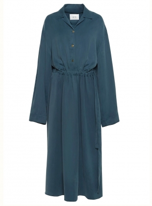 Jade Green DRAPE SHIRT DRESS by BITE STUDIOS