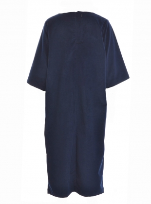 Young British Designers: DEBORAH Organic Cotton Cord Dress in Navy by Beaumont Organic