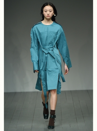 HEPWORTH Dress in Teal Cotton by Eudon Choi