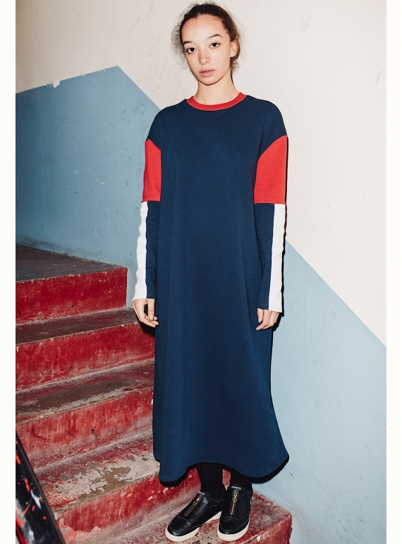 Young British Designers: YOLANDA Oversized Long Sweat Dress by RIYKA