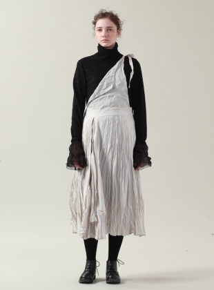 Silver White Ramie Apron Dress- sold out by Renli Su