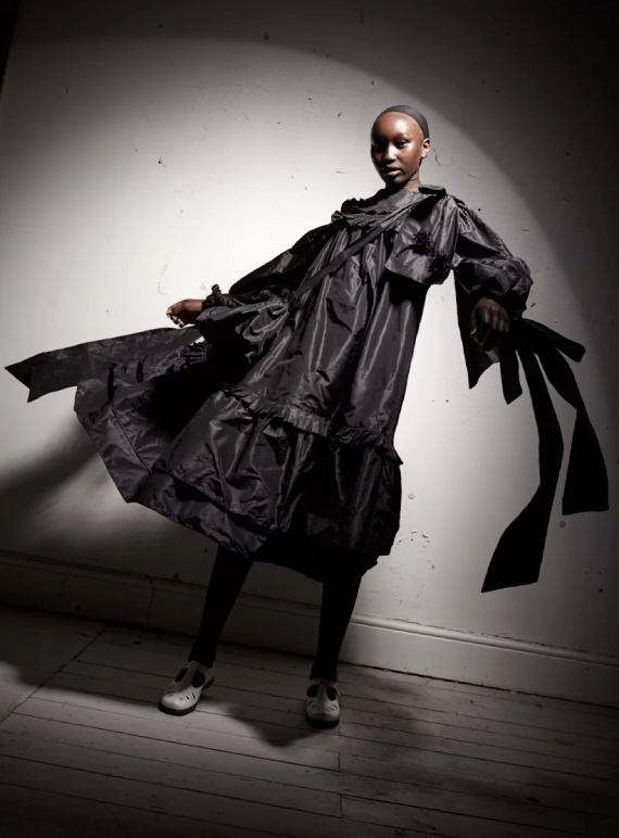 Young British Designers: Pleated Victorian Taffeta Dress - Sold out by Natalie B Coleman