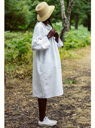 Young British Designers: Softened Linen Reversible Wendy Dress by Lemuel MC