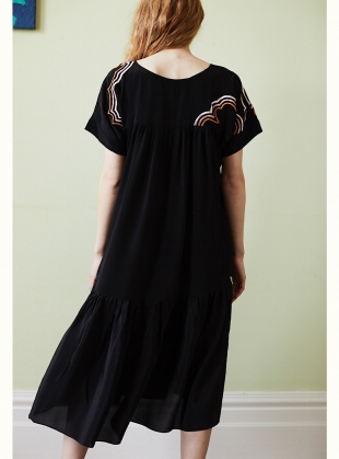 Young British Designers: Zoe Pocket Dress with Cloud Embroidery - Sold out by Tallulah & Hope