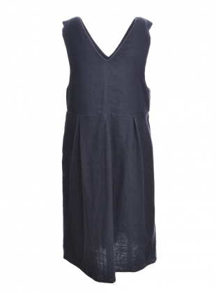 Young British Designers: Softened Linen Navy Pinafore Dress - last one (s/m) by Lemuel MC