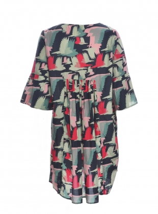 Young British Designers: Fifi Smock Dress in Birds Fly Print - Last one by Tallulah & Hope