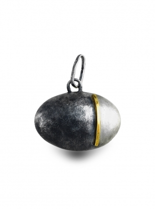 Ovoid Smoky and Bright Pendant - last one by Agneta Bugyte