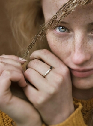 Wild Gold and Silver Ring by Agneta Bugyte