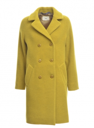 CAVI Virgin Wool Coat in Sulphur by Folk