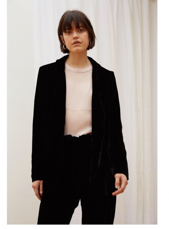 Young British Designers: NIGHT SKY Velvet Blazer by Kelly Love