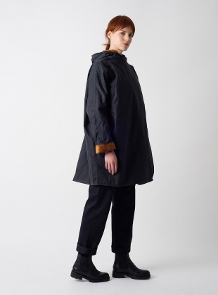 BATWING Waxed Cotton Coat in Navy and Cinnamon Cord - Last one by Kate Sheridan