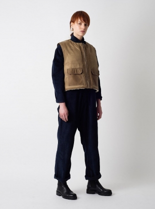 Young British Designers: Two Way Sand Waxed LUMBER Vest by Kate Sheridan