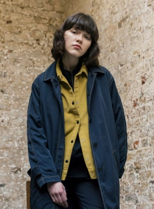 SHELL Mac in Navy/Sulphur by Folk