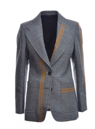 GEORGINA Blazer in Grey & Camel by Eudon Choi