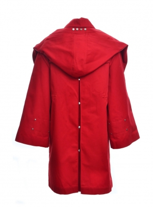 TOMPKINS Trenchcoat in Red by Eudon Choi