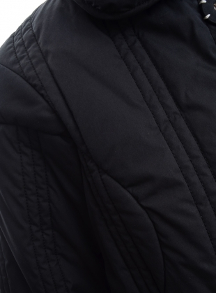 Young British Designers: Quilted Curve Black Jacket - Last one by Renli Su