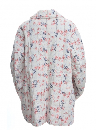 Young British Designers: Floral Sprig Print Quilted Jacket by Renli Su