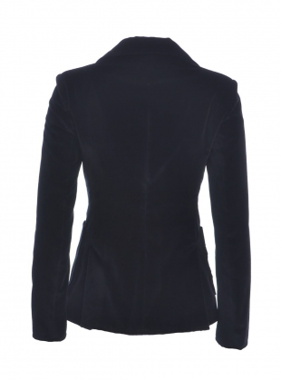 Young British Designers: BLACK VELVET TWO BUTTON BLAZER  by Rockins