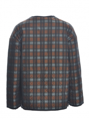 Young British Designers: Lulu Silk Tartan Quilted Jacket by MINKI LONDON