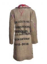 COFFEE SACK COAT with Embroidery