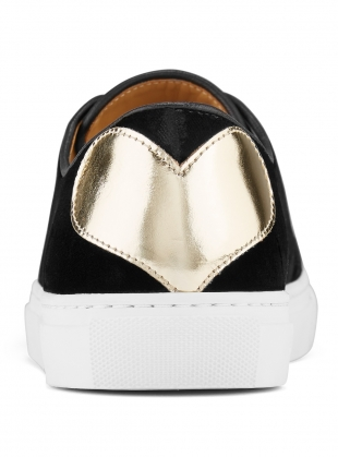 Young British Designers: TOUGH LOVE SNEAKER in Black Velvet - Last pair (36) by Rogue Matilda