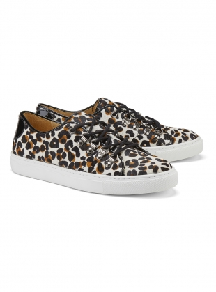 Young British Designers: TOUGH LOVE SNEAKER in Leopard - Last pair (36) by Rogue Matilda