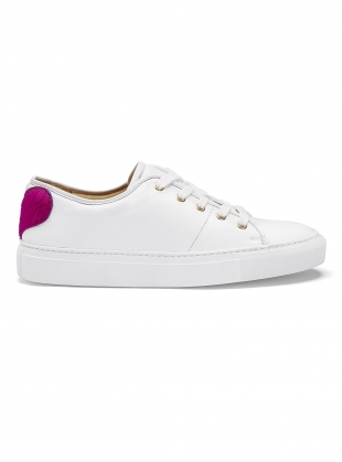 Young British Designers: SWEETHEART SNEAKER in White - Last pair (36) by Rogue Matilda
