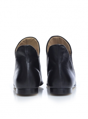 Young British Designers: STUDIO SLOUCH BOOTIE in Black by Dear Frances