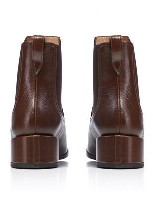 Young British Designers: GEM BOOT in Espresso by Dear Frances