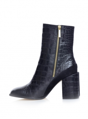 SPIRIT BOOT in Black Croc - Last pair by Dear Frances