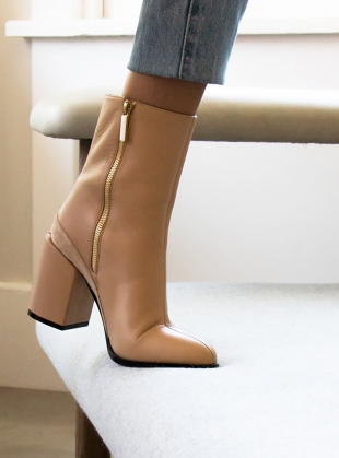 Young British Designers: SPIRIT BOOT in Nude - last pair (36) by Dear Frances