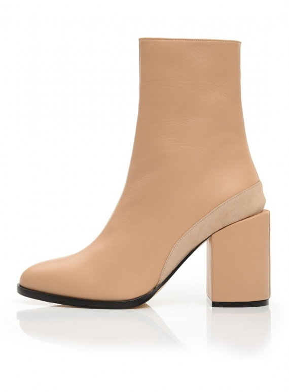 Young British Designers: SPIRIT BOOT in Nude by Dear Frances